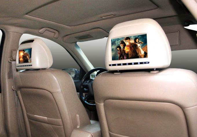 HEADREST DVD Monitor / Car Back Seat DVD Player with USB SD GAMES Speaker