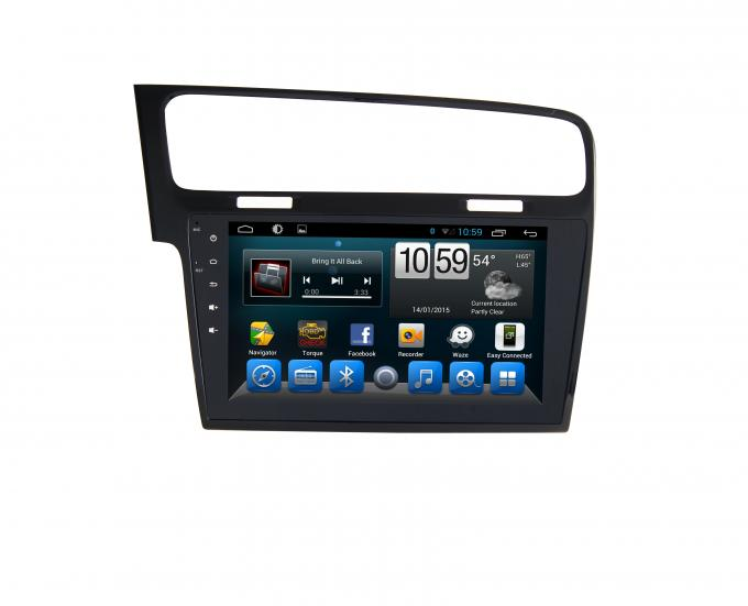 10 Inch Touch Screen Android 4.4 Gps Radio , Vw Golf 7 Gps Navigation System