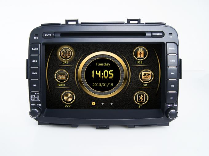 Doble Din KIA DVD Player Multimedia Bluetooth Wince for Carens