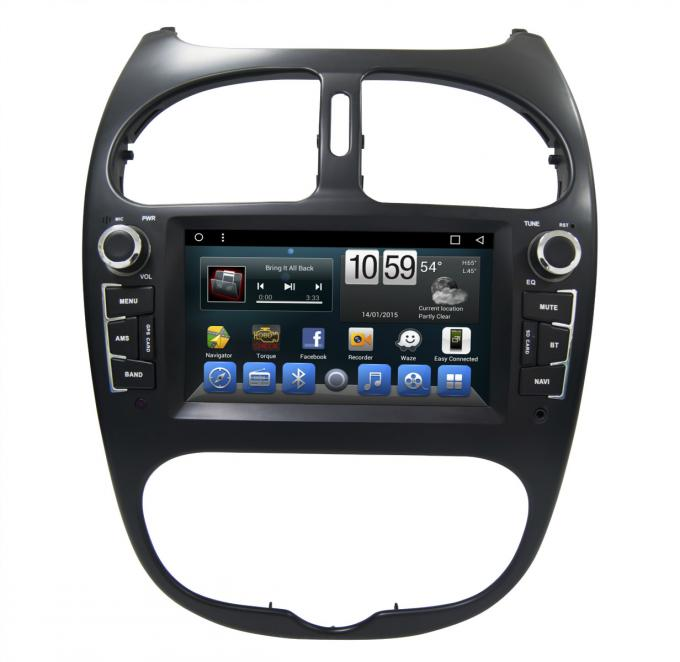 Peugeot 206 GPS Navigation Car Multimedia DVD Player With Android / Windows System