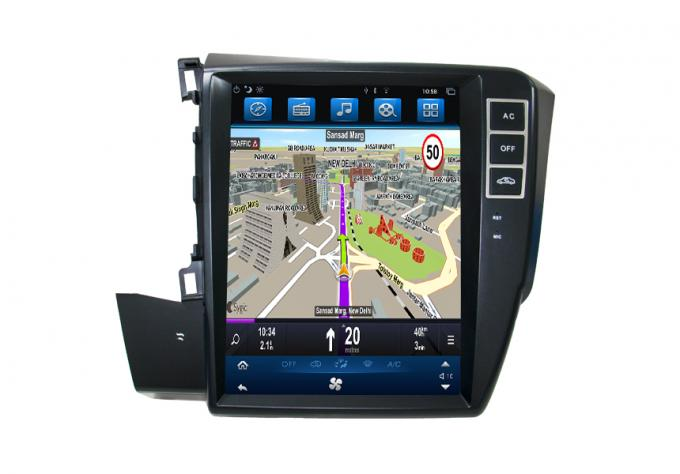 Honda Civic Car Navigation System 10.4 Inch Big Screen With FM Emission Function