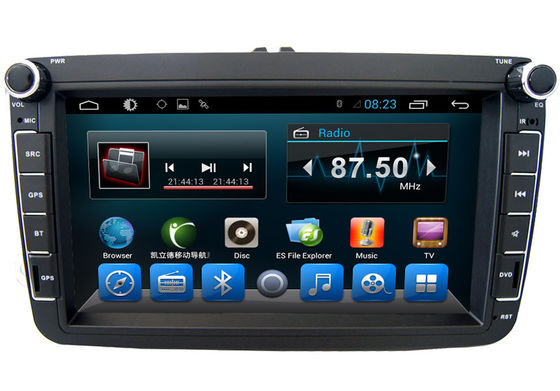 China Black Volkswagen Deckless 8 Inch Car GPS Navigation Android AST - 8087 supplier