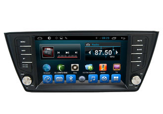 China Quad Core Volkswagen Gps Navigation VW Fabia Radio Stereo Bluetooth supplier