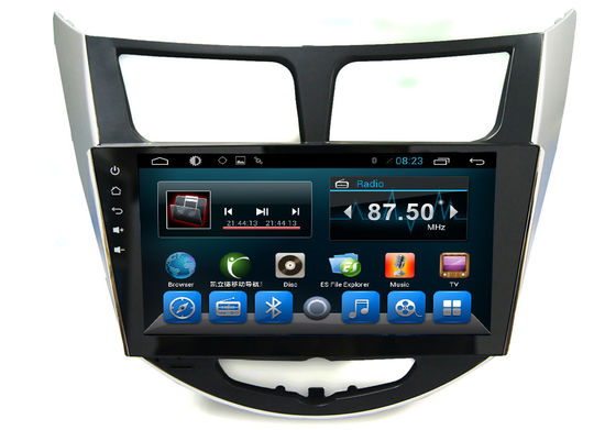 China Android 2 Din Radio System GPS Auto Navigation Verna Accent Solaris Car Video Audio Player supplier