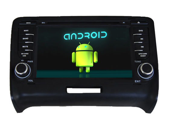 China Quad Core Audi Navigation System Central Multimedia With HD Resolution Capacitive Touch Panel supplier
