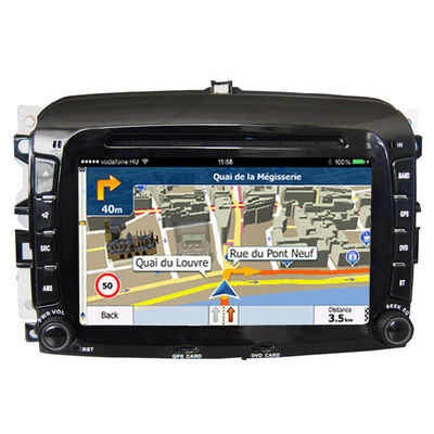 Double Din FIAT Navigation System High Resolution With Capacitive Touch Panel