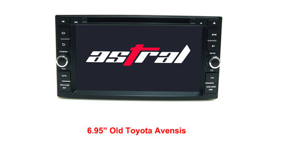 China Toyota Avensis Android GPS Navigation Device 6.95 Inch Support Full Phonebook supplier