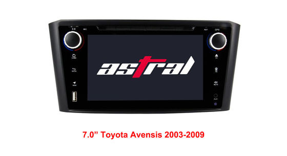 China Multimedia TOYOTA GPS Navigation 7.0 Inch Stereo Radio With DVD SWC Mirror - Link supplier