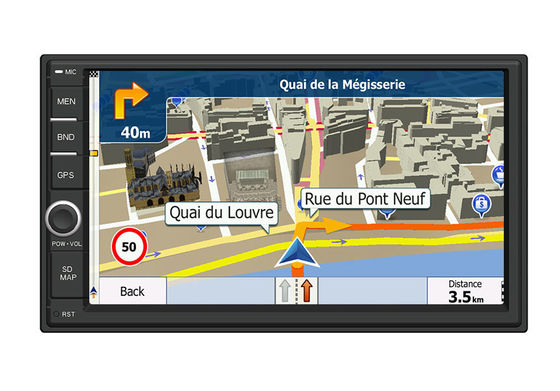 China 7 ″ HD Capacitive Screen Car GPS Navigation System With Bluetooth Phonebook Search  supplier