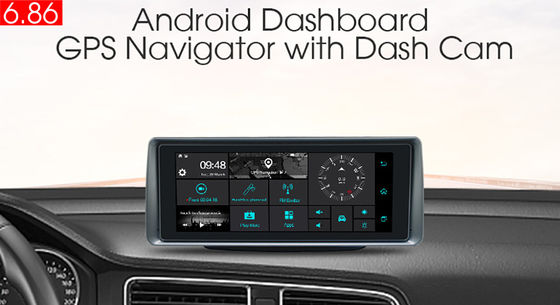 SD 3G In Dash Navigation GPS Tracker With FM WiFi Bluetooth Rear Camera DVR