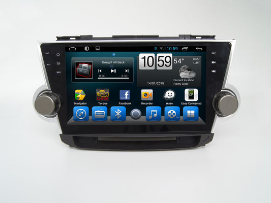 China 10.1 Inch Car Multimedia Navigation System With Double Din Touch Screen Android supplier