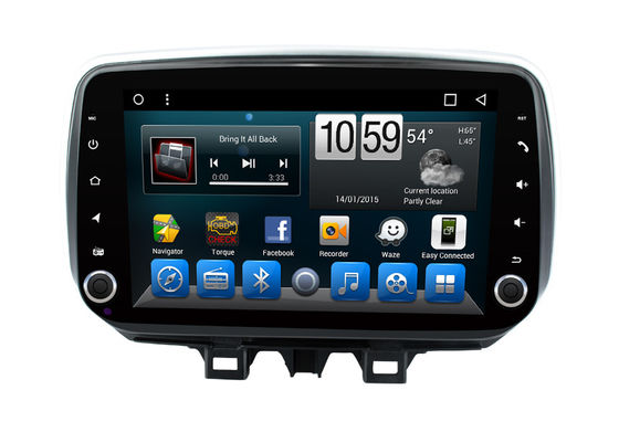China Handfree Bluetooth HYUNDAI DVD Player 2 Din Android Head Unit Support DVR / Front Camera supplier