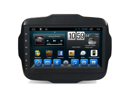 China 4G SIM DSP Car GPS Navigation System 9 Inch Jeep Renegade Android Bluetooth Support supplier