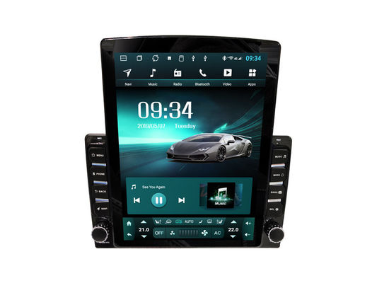 Tesla Style Car Multimedia Sat Nav System Universal Vertical Touch Screen 9.7""