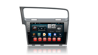 China 10 Inch Touch Screen Android 4.4 Gps Radio , Vw Golf 7 Gps Navigation System supplier
