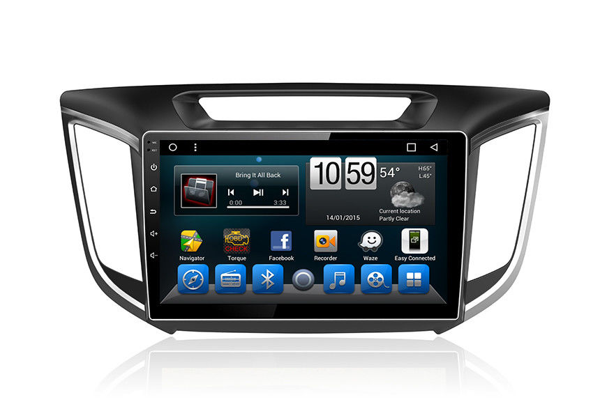 Car GPS Unit Android System Double Din Radio With Navigation Touch Screen Ix25 Creta