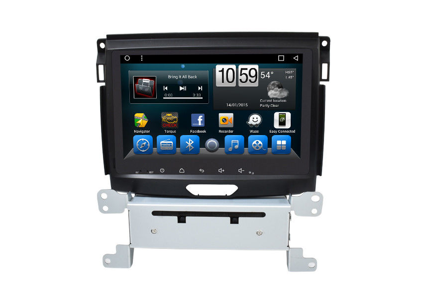 2 Din GPS Unit Ford DVD Navigation System For Everest Endeavour 2013-2017