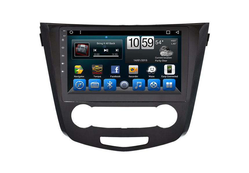 Nissan Qashqai 10.1 Inch Stereo Car GPS Navigation System Built In Bluetooth