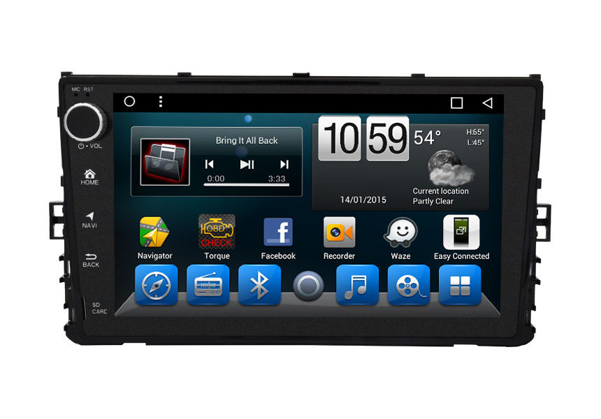 OEM In Dash VolksWagen Dvd Gps Navigation System Glonass Android 9 Inch
