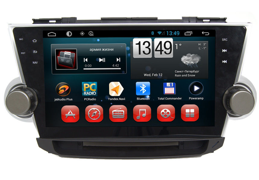 Android System TOYOTA GPS Navigation With 3G WIFI Bluetooth Camera Input