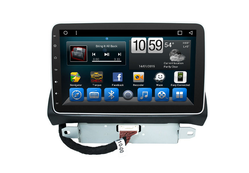 Stereo GPS Navigation System High Temperature Resistance Support Dual Zone Function