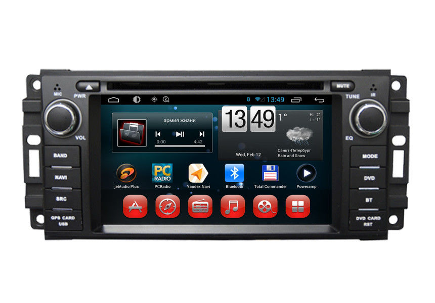 jeep grand chrokee wrangler compass car gps navigation system android os dvd. Black Bedroom Furniture Sets. Home Design Ideas