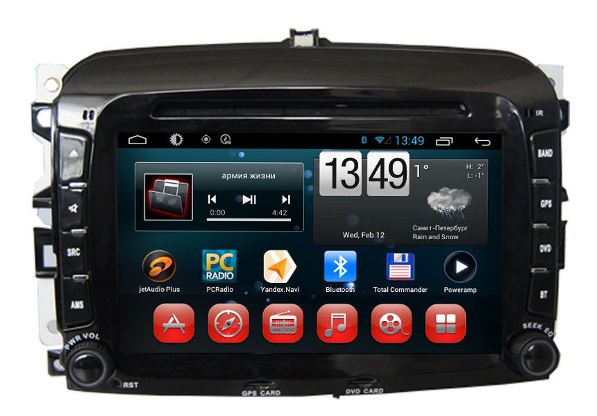 car radio fiat navigation system 500 ipod 3g dvd gps wifi. Black Bedroom Furniture Sets. Home Design Ideas