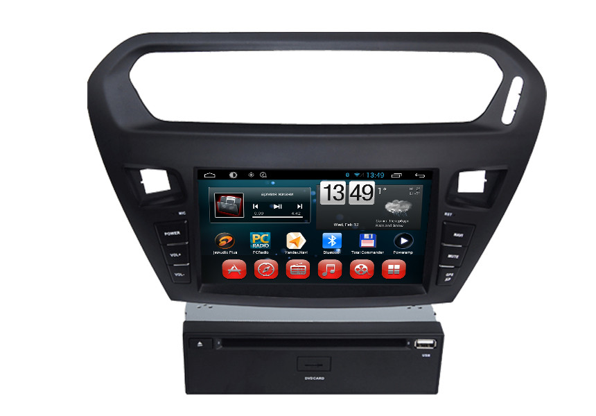 Quad core PEUGEOT Navigation System With 8.0 Inch Touch Screen / Auto Rear Viewing