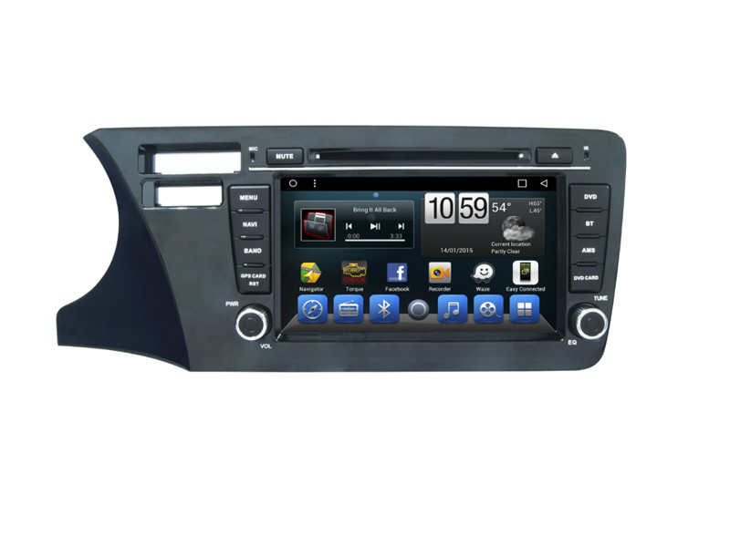 Honda City Car Dvd Gps Multimedia Navigation System Support Mirrorlink IGO GOOGLE