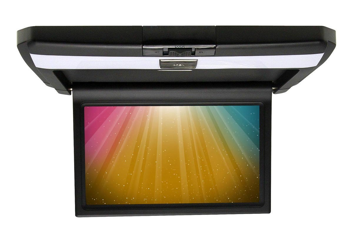 Beige/Black/Grey Car DVD Player HD Roof Flip Down Monitor 10.1-inch Screen