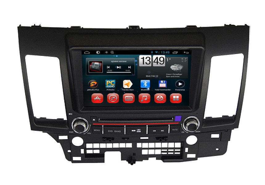 Multimedia Mitsubishi Lancer EX Android 4.2 Navigator Car DVD Player with Bluetooth