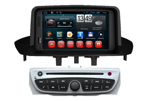 Android 4.4 OS GPS Radio Tv Double Din Car DVD Player For  Megane 2014