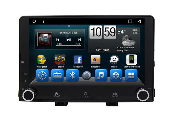 Octa Core KIA Navigation System , 2 Din Car Dvd Player Android Gps Device Rio 2017