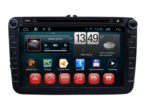 China VW Magotan Sagitar Tiguan Polo Eos GPS Navigation System Android OS DVD Player factory