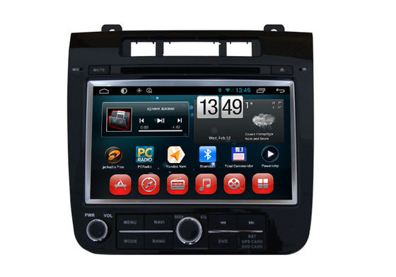 China VW Touareg Volkswagen GPS Navigation System Android OS DVD Player SWC BT Radio TV factory